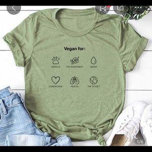 Tops - Vegan for Animals Rainforest T-shirt